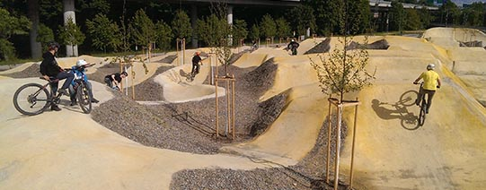Pumptrack Sihlcity (betoniert)